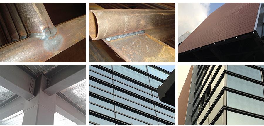 横明竖隐玻璃幕墙商业大厦工程工艺