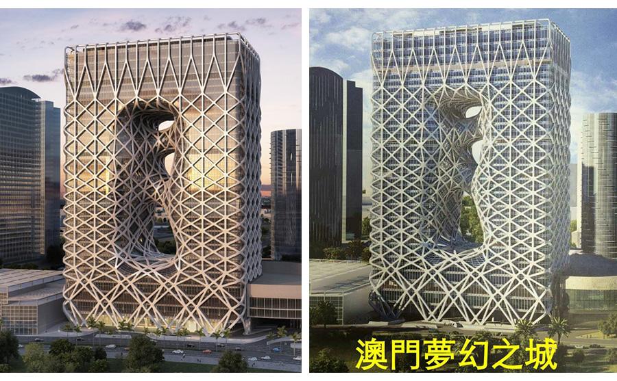 酒店玻璃铝板幕墙工程项目设计效果图