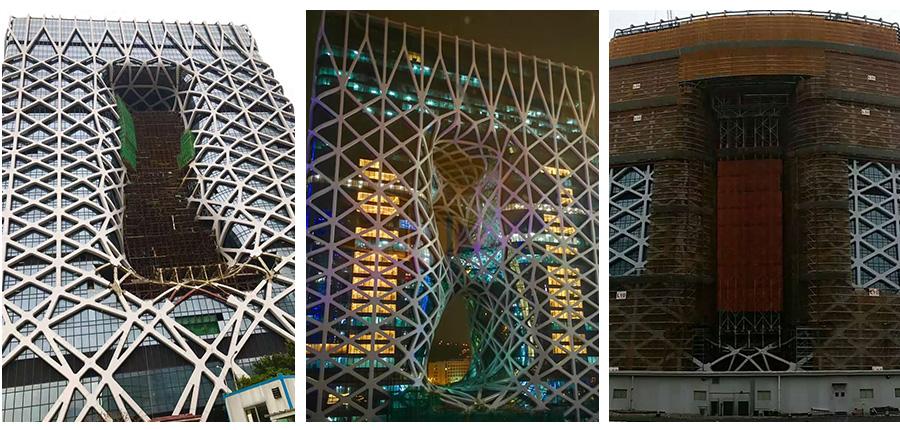 酒店玻璃铝板幕墙工程项目施工进行时