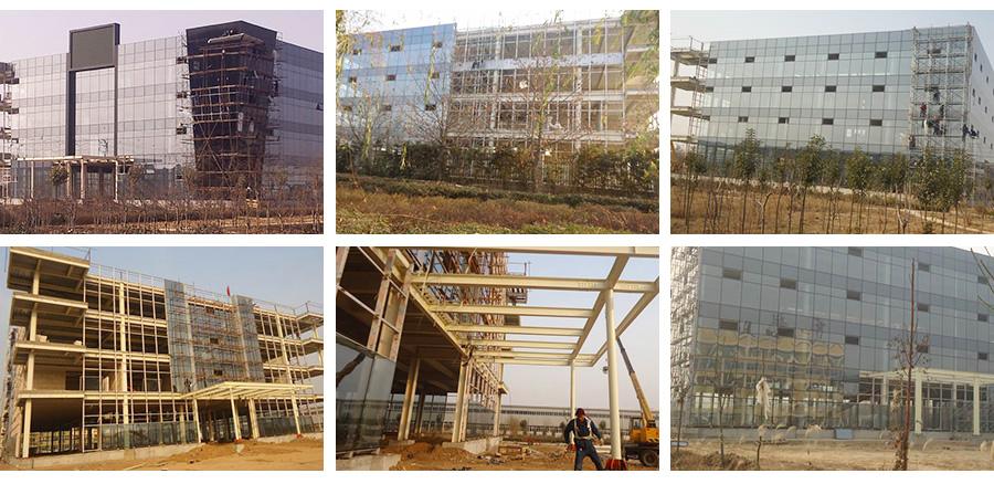 河南全隐框玻璃幕墙建筑项目施工进行时