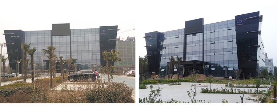 河南全隐框玻璃幕墙建筑项目验收后实景效果图