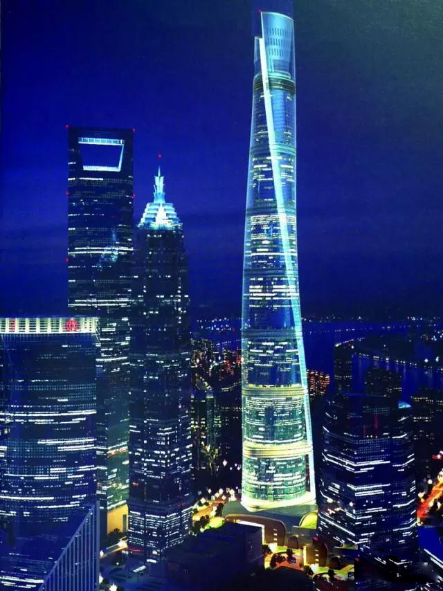 玻璃幕墙成为上海中心大厦的亮点