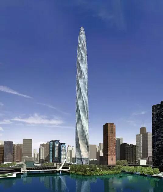 芝加哥螺旋塔之钢结构设计
