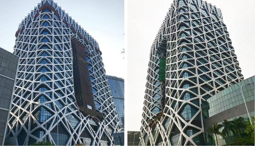 澳门沐梵世酒店玻璃铝板幕墙工程