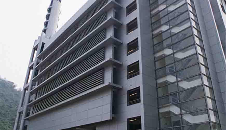 香港科学馆A座玻璃点支式幕墙