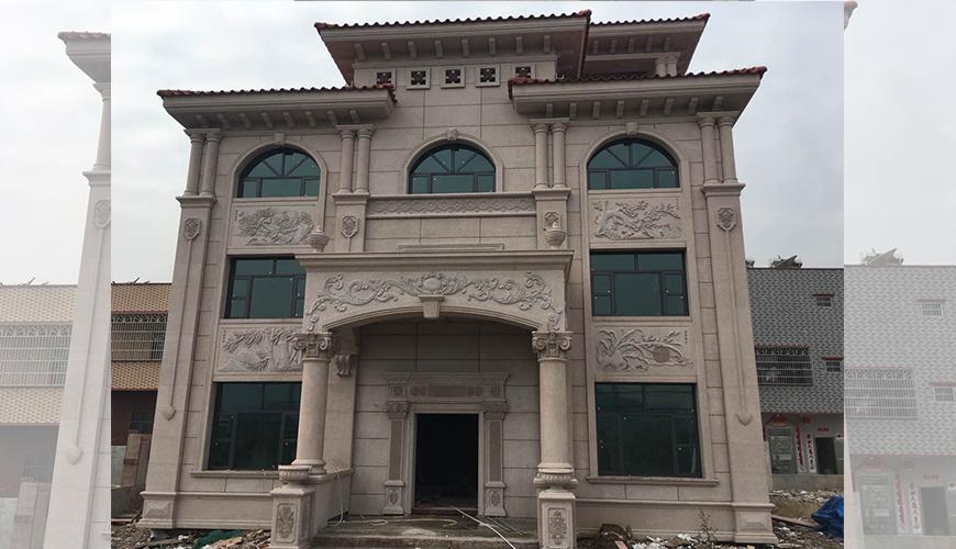广州惠州玻璃石材幕墙别墅